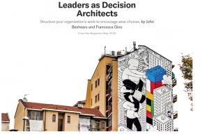 رهبران به عنوان معماران تصمیم